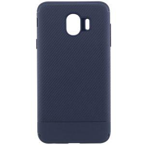 Силиконовый (TPU) чехол – бампер Carbon для Samsung J400F Galaxy J4 (2018) Blue