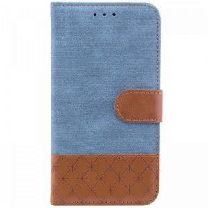 Чехол-книжка Diary с визитницей и функцией подставки для Samsung J600F Galaxy J6 2018 (Голубой)