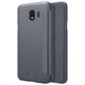 Кожаный чехол (книжка) Nillkin Sparkle Series для Samsung J400F Galaxy J4 (2018) Black