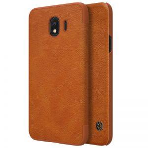 Кожаный чехол (книжка) Nillkin Qin Series для Samsung J400F Galaxy J4 (2018) Brown