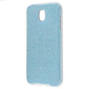 Силиконовый (TPU) чехол – бампер с блестками Shine для Samsung J400F Galaxy J4 (2018) Blue