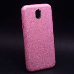 Силиконовый (TPU) чехол – бампер с блестками Shine для Samsung J400F Galaxy J4 (2018) Pink