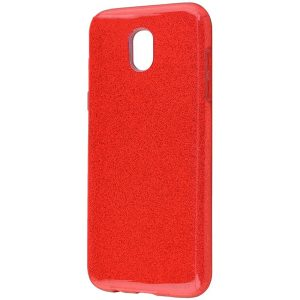 Силиконовый (TPU) чехол – бампер с блестками Shine для Samsung J400F Galaxy J4 (2018) Red