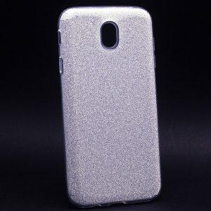 Cиликоновый (TPU+PC) чехол Shine с блестками для Samsung J530 Galaxy J5 2017 (Серебряный)
