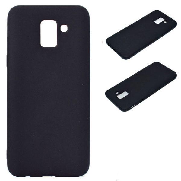Матовый силиконовый TPU чехол для Samsung J600F Galaxy J6 (2018) Black