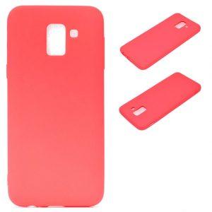 Матовый силиконовый TPU чехол для Samsung J600F Galaxy J6 (2018) Red