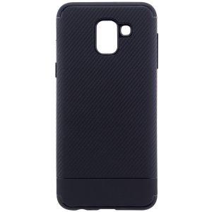 Cиликоновый (TPU) чехол Carbon для Samsung J600F Galaxy J6 2018 (Черный)