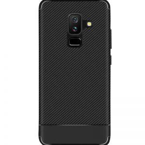 Cиликоновый (TPU) чехол Carbon для Samsung Galaxy J8 2018 (Черный)