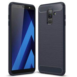 Cиликоновый (TPU) чехол Slim Series  для Samsung Galaxy J8 2018 (Blue)