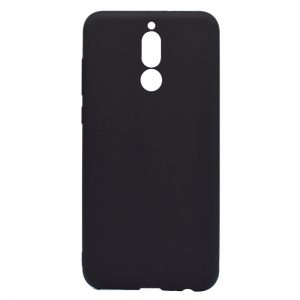 Матовый силиконовый TPU чехол на Huawei Mate 10 Lite (Black)