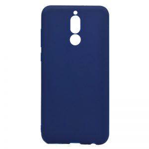 Матовый силиконовый TPU чехол на Huawei Mate 10 Lite (Синий)