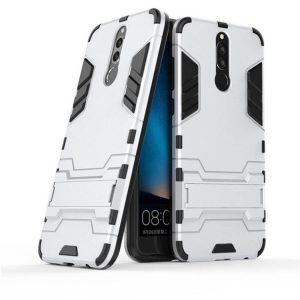 Ударопрочный чехол Transformer с подставкой для Huawei Mate 10 Lite (Silver)