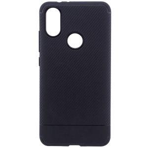 Cиликоновый (TPU) чехол Carbon  для Xiaomi Mi 6X / Mi A2 (Черный)