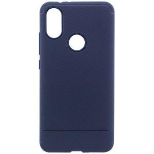 Cиликоновый (TPU) чехол Carbon для Xiaomi Mi 6X / Mi A2 (Синий)