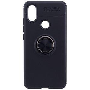 Cиликоновый чехол Deen ColorRing с креплением под магнитный держатель для Xiaomi Redmi Note 6 Pro (Black)