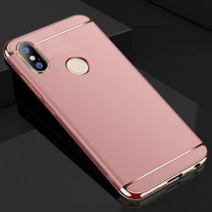 Матовый пластиковый чехол Joint Series для Xiaomi Redmi Note 7 / 7 Pro (Rose Gold)