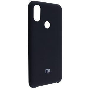 Оригинальный чехол Silicone Case с микрофиброй для Xiaomi Mi 6X / Mi A2 – Black