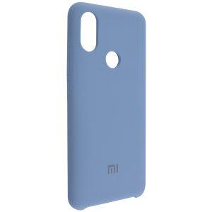 Оригинальный чехол Silicone Case с микрофиброй для Xiaomi Mi 6X / Mi A2 – Blue