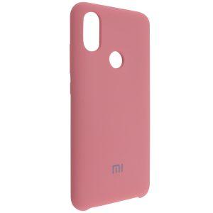 Оригинальный чехол Silicone Case с микрофиброй для Xiaomi Mi 6X / Mi A2 –Pink