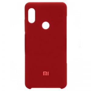 Оригинальный чехол Silicone Case с микрофиброй для Xiaomi Mi 6X / Mi A2 – Red