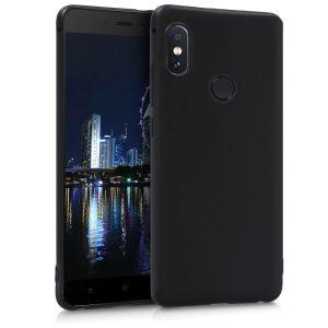 Матовый силиконовый TPU чехол на Xiaomi Redmi Note 6 Pro (Black)