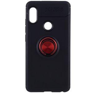 Cиликоновый чехол Deen ColorRing c креплением под магнитный держатель для Huawei P Smart Plus / Nova 3i (Красный)