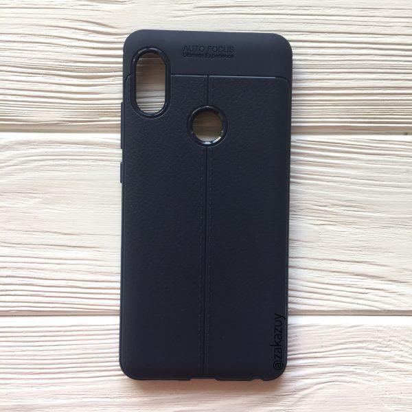 Силиконовый чехол Auto Focus для Xiaomi Redmi Note 5 Pro / Note 5 (Blue)
