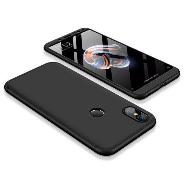 Пластиковая накладка GKK LikGus 360 градусов для Xiaomi Redmi Note 5 Pro / Note 5 (Black)