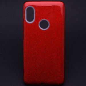 Cиликоновый (TPU+PC) чехол Shine с блестками для Samsung M20 (Красный)