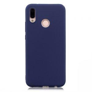 Матовый силиконовый TPU чехол на Xiaomi Mi Max 3 (Blue)