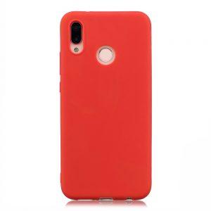 Матовый силиконовый TPU чехол на Xiaomi Mi Max 3 (Red)