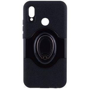 TPU+PC чехол Deen Feather с креплением под магнитный держатель для Huawei P20 Lite (Black)