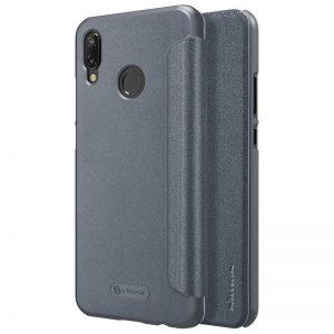 Кожаный чехол (книжка) Nillkin Sparkle Series для Huawei P20 Lite (Black)