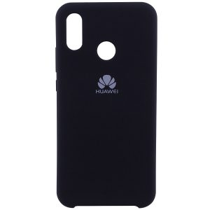 Оригинальный черный силиконовый чехол с микрофиброй для Huawei P20 Lite (Black)