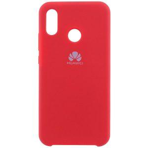 Оригинальный чехол Silicone case с микрофиброй для Huawei P20 Lite (Red)