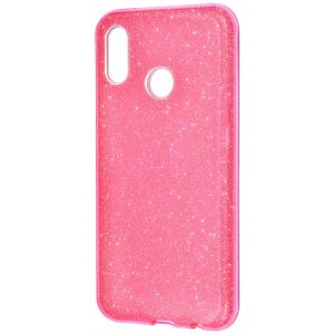 Розовый силиконовый (TPU) чехол с блестками Shine для Huawei P20 Lite (Pink)