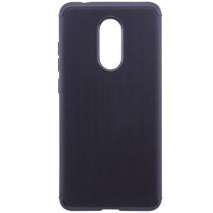 Cиликоновый (TPU) чехол Metal  для Xiaomi Redmi 5 (Черный)