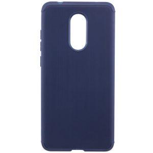 Cиликоновый (TPU) чехол Metal  для Xiaomi Redmi 5 Plus (Blue)