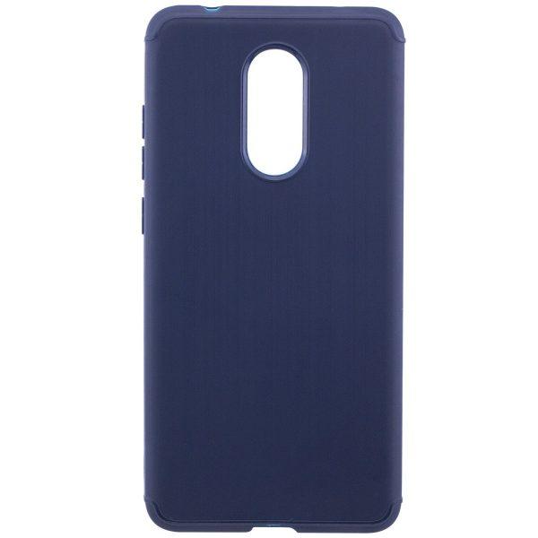 Силиконовый TPU чехол – бампер Metal для Xiaomi Redmi 5 (Blue)