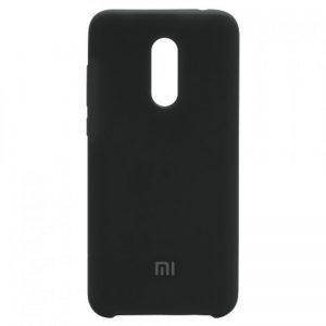 Оригинальный чехол Silicone case с микрофиброй для Xiaomi Redmi 5 Plus (Black)