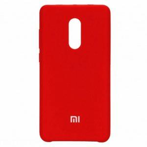 Оригинальный чехол Silicone case с микрофиброй для Xiaomi Redmi 5 Plus (Red)