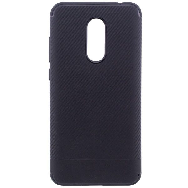 Силиконовый (TPU) чехол — бампер Carbon для Xiaomi Redmi 5 Plus (Black)