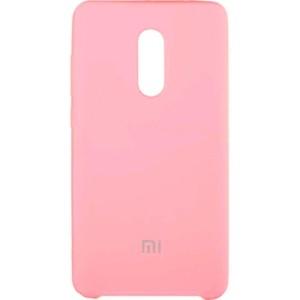 Оригинальный чехол Silicone Case с микрофиброй для Xiaomi Redmi 5 Plus – Розовый