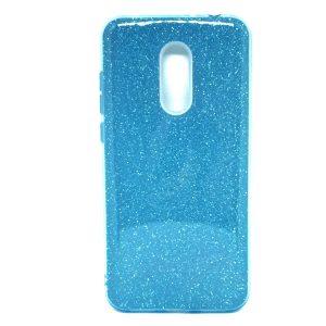 Силиконовый (TPU) чехол — бампер с блестками Shine для Xiaomi Redmi 5 Plus (Blue)