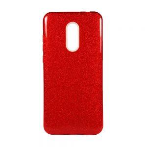 Силиконовый (TPU+PC) чехол Shine с блестками для Xiaomi Redmi 5 Plus (Красный)