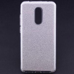 Силиконовый (TPU+PC) чехол Shine с блестками для Xiaomi Redmi 5 Plus (Серебряный)