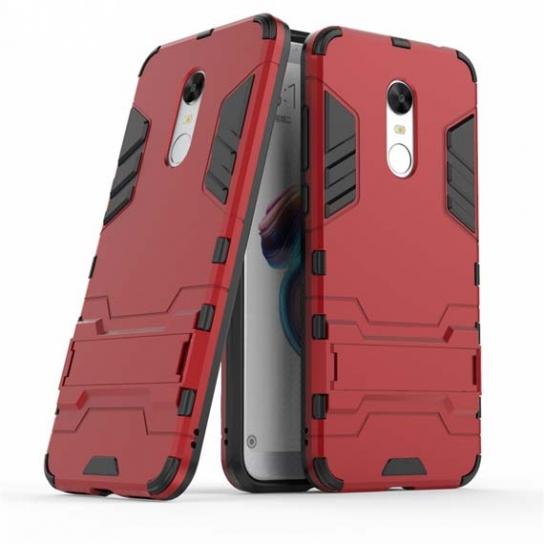Ударопрочный чехол Transformer с подставкой для Xiaomi Redmi 5 Plus (Red)