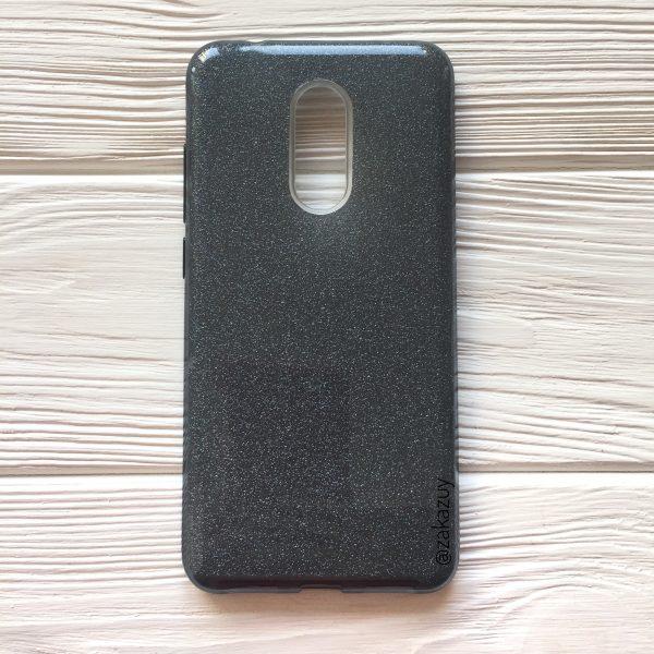 Силиконовый (TPU) чехол бампер с блестками Shine для Xiaomi Redmi 5 (Grey)
