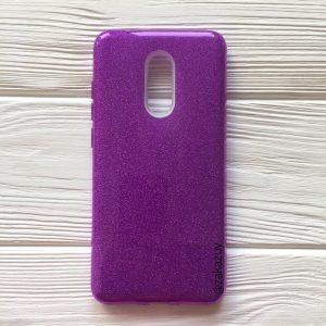Силиконовый (TPU+PC) чехол Shine с блестками для Xiaomi Redmi 5 (Фиолетовый)