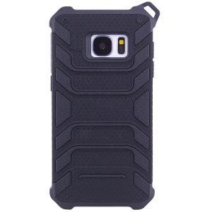 TPU+PC чехол Deen Beetle с ремешком для Samsung G930F Galaxy S7 (Черный)